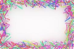 Decorativo, composição do cgi das ilustrações, quadro de papel virtual do contexto da corda, para o fundo da textura do projeto 3 foto de stock