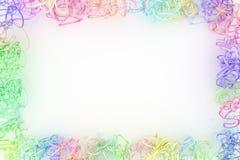 Decorativo, composição do cgi das ilustrações, quadro de papel virtual do contexto da corda, para o fundo da textura do projeto 3 fotografia de stock