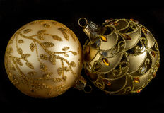 Decorativo de oro Fotografía de archivo libre de regalías