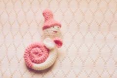 Decorativo fazer crochê o caracol Foto de Stock