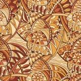 Decorativo natural tirado do vetor mão sem emenda Ilustração Stock
