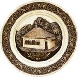 Decorativo placa a casa do Lermontov Fotos de Stock