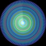 Decorativo redondo dos azuis marinhos Fotos de Stock Royalty Free