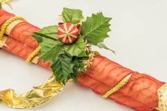 Decorativos de navidad de caña Troncos στοκ φωτογραφία