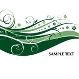 Decorato floreale verde illustrazione vettoriale
