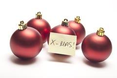 Decoraton de Noël avec la note jaune Photo stock