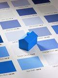 Decorator Paint Swatches and House Royalty Free Stock Images