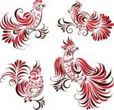 Decoratve birds Stock Images