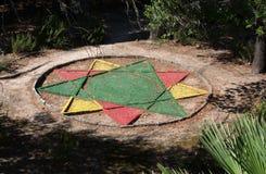 Decorazione aguzza del giardino della stella nove Fotografia Stock
