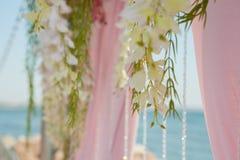 Decorazione all'aperto di nozze Fotografia Stock