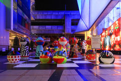 Decorazione all'aperto fra Siam Center e Siam Discovery, due f Immagine Stock