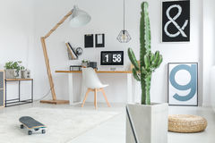 Decorazione alla moda dell'ufficio Fotografie Stock