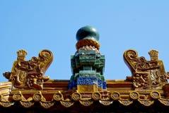 Decorazione architettonica antica cinese Fotografia Stock Libera da Diritti