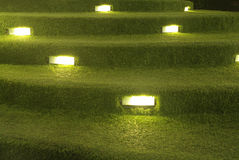 Decorazione artificiale della scala dell'erba con illuminazione Immagini Stock