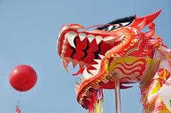 Decorazione asiatica di ballo del drago Fotografie Stock
