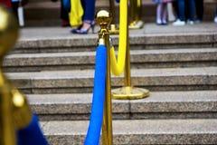 decorazione Blu-gialla dell'entrata Fotografia Stock