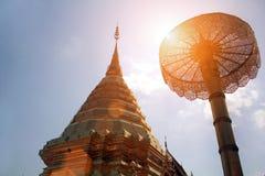 Decorazione buddish tailandese del tempio di stupa nordico Fotografia Stock Libera da Diritti