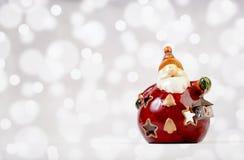 Decorazione ceramica di Santa Claus Immagine Stock