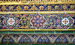 Decorazione ceramica variopinta immagine stock