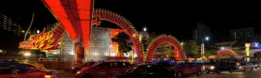 Decorazione cinese 2012 della scultura del drago di nuovo anno Fotografie Stock