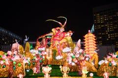 Decorazione cinese del nuovo anno a Marina Bay Fotografia Stock Libera da Diritti