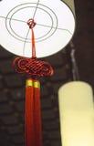 Decorazione cinese della lanterna in tempio Immagine Stock Libera da Diritti
