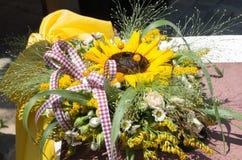 Decorazione con i fiori Fotografie Stock Libere da Diritti