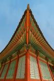 Decorazione coreana tradizionale della casa del villaggio Immagini Stock Libere da Diritti