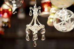 Decorazione a cristallo dell'albero di Natale del candeliere Fotografia Stock Libera da Diritti