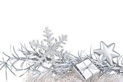 Decorazione d'argento di natale Fotografia Stock Libera da Diritti