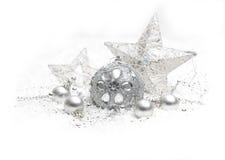 Decorazione d'argento di Natale Immagini Stock Libere da Diritti