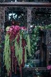 Decorazione d'avanguardia del fiore di nozze nello stile di boho Fotografia Stock Libera da Diritti