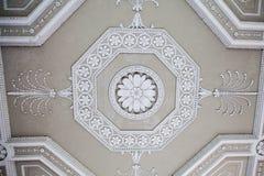 Decorazione decorata classica del soffitto del gesso Fotografia Stock