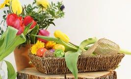 Decorazione decorativa delle uova di Pasqua Fotografia Stock Libera da Diritti