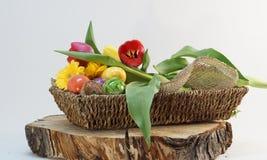 Decorazione decorativa delle uova di Pasqua Fotografie Stock Libere da Diritti