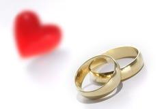 Decorazione degli anelli di cerimonia nuziale Fotografia Stock Libera da Diritti