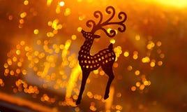 Decorazione dei cervi del giocattolo di Natale Immagine Stock