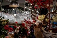 Decorazione dei cervi di Natale Fotografia Stock Libera da Diritti