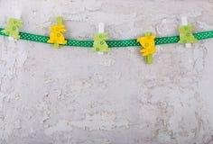 Decorazione dei conigli di Pasqua Fotografie Stock Libere da Diritti