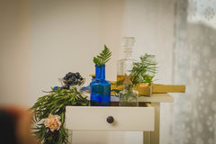 Decorazione dei corridoi di nozze Fotografia Stock