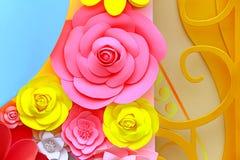 Decorazione dei fiori di carta Fotografia Stock Libera da Diritti
