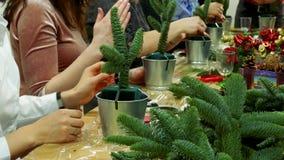 Decorazione dei mazzi del regalo di Natale Fotografia Stock Libera da Diritti