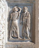 Decorazione del battistero, cattedrale a Pisa immagine stock libera da diritti