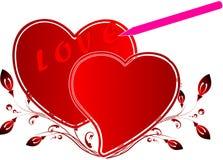 Decorazione del biglietto di S. Valentino Immagini Stock