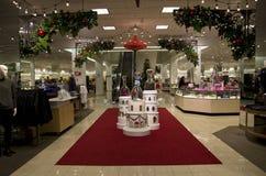 Decorazione del centro commerciale di shopping di festa Fotografia Stock