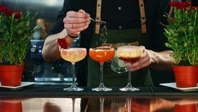 Decorazione del cocktail nella barra immagine stock