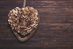 Decorazione del cuore del biglietto di S. Valentino Fotografia Stock Libera da Diritti