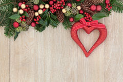Decorazione del cuore di Natale Fotografia Stock Libera da Diritti