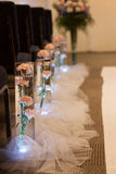 Decorazione del fiore della navata laterale di nozze Fotografia Stock Libera da Diritti