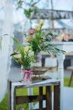 Decorazione del fiore di nozze Fotografie Stock Libere da Diritti